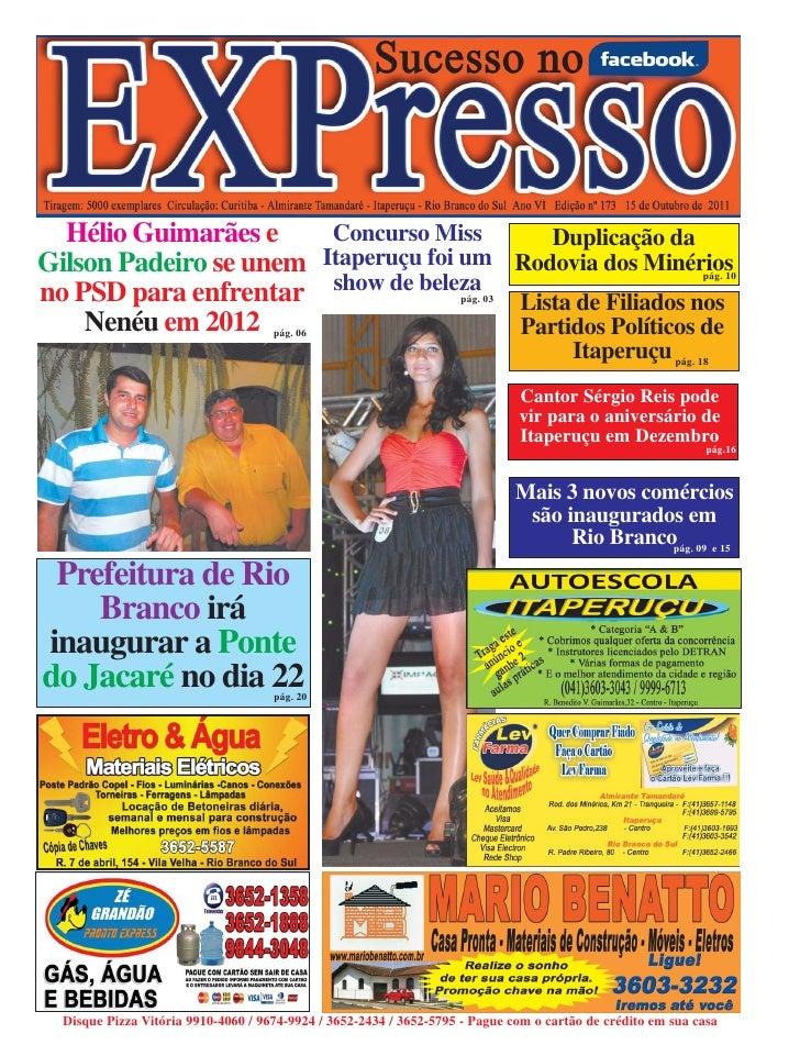 Hélio Guimarães e     Concurso Miss      Duplicação daGilson Padeiro se unem Itaperuçu foi um Rodovia dos Minérios        ...