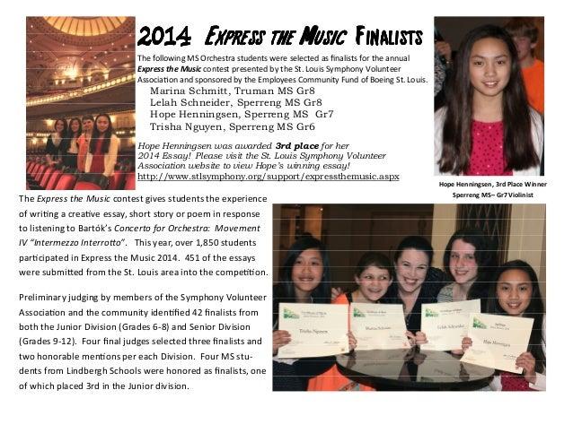 2014201420142014 Express the MusicExpress the MusicExpress the MusicExpress the Music FinalistsFinalistsFinalistsFinalists...
