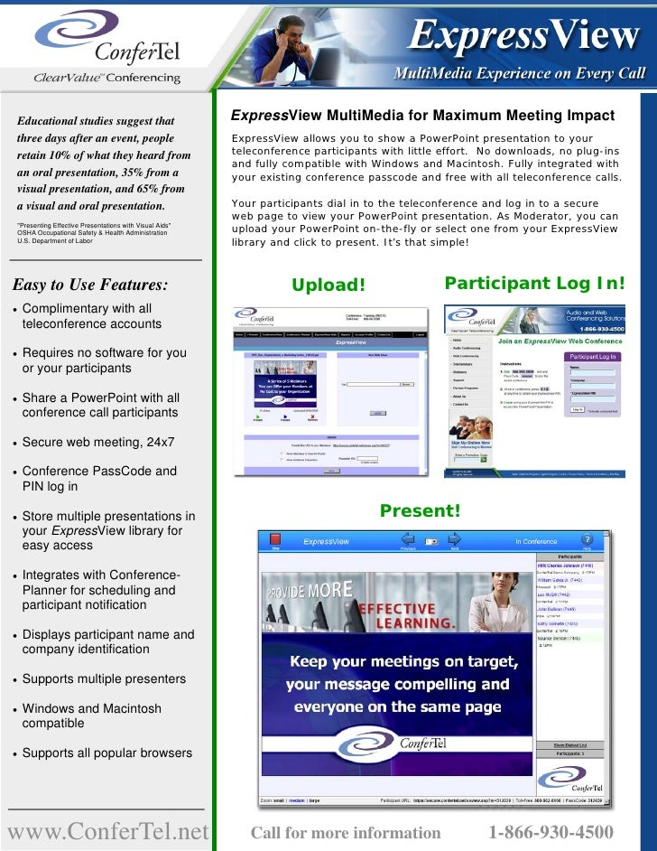 Educational studies suggest that                        ExpressView MultiMedia for Maximum Meeting Impact three days after...