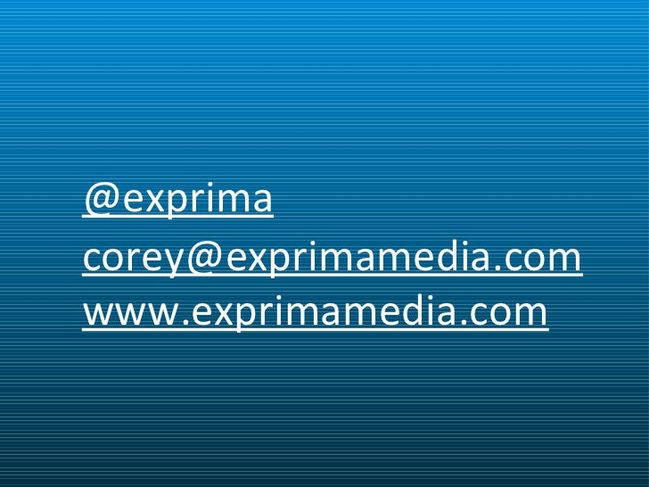@exprima [email_address] www.exprimamedia.com