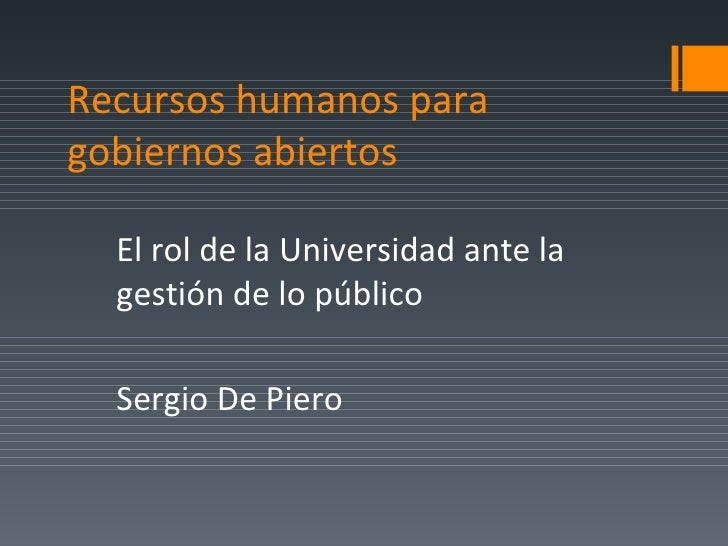 RH+ / presentación Sergio De Piero