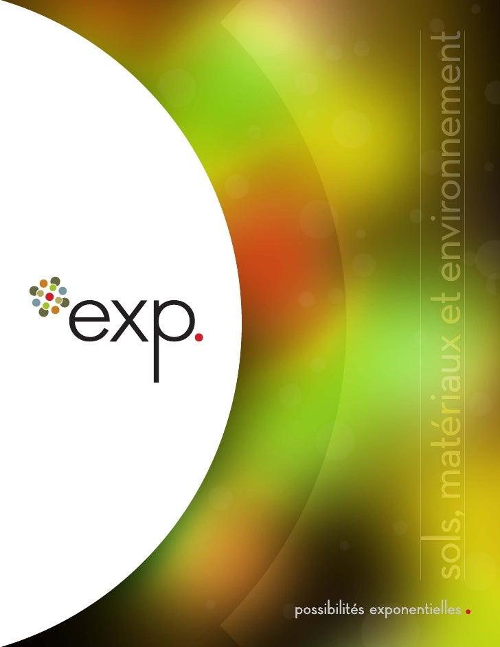 Exp - Expertise Sols,Materiaux et Environnement