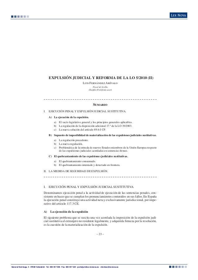 Expulsion judicial (II)