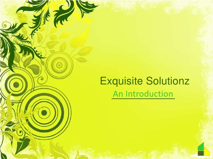Exquisite Solutionz<br />An Introduction<br />