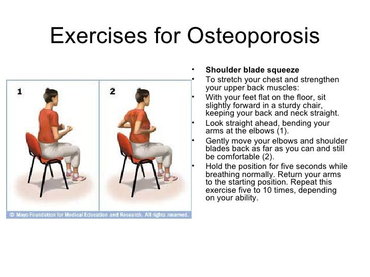 Preventing Osteoporosis by doing Exercises