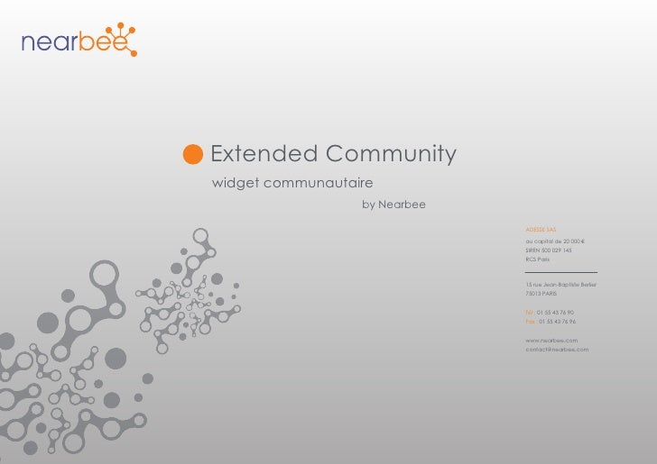Extended Community widget communautaire                   by Nearbee                                 ADESSE SAS           ...