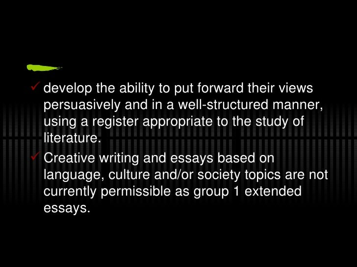 Extended essay - A1 english! help.?