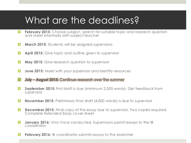 B>IB Deadlines Student Version - Brent International