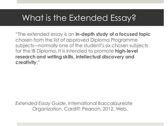 Extended Essay Online Help