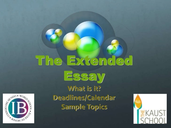 Extended essay overview