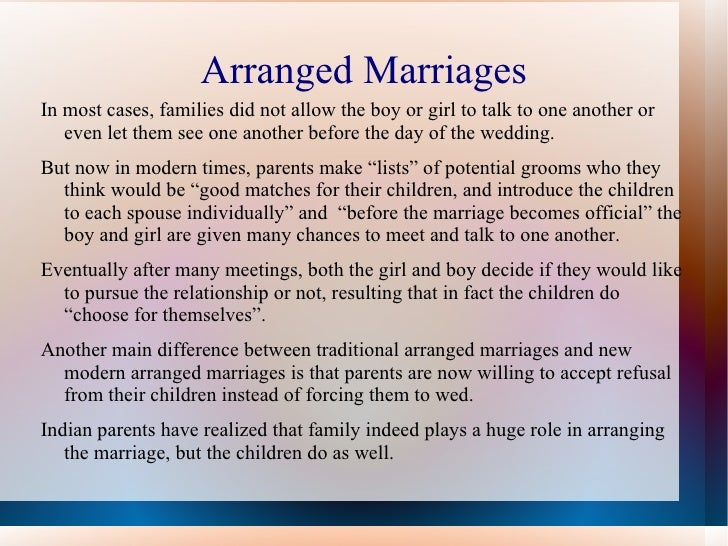 my parents marriage essay Argumentative essay: should marriage be arranged getting married and living together in happy is the last target of any lover couples however, nowadays there are many people who get married without love but arrangement or obligation from family.