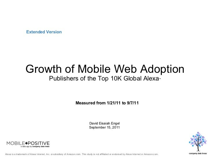 Growth of Mobile Web Adoption: Top Global Publishers
