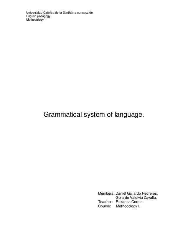 Extended version prezi on systems of language: Grammatical system