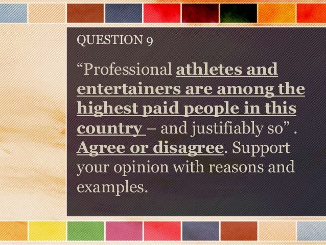 Writing an essay on professional athletes and their salary?