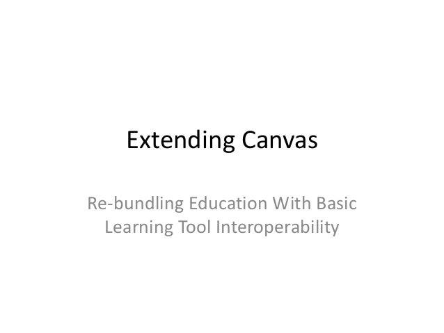 Extending Canvas
