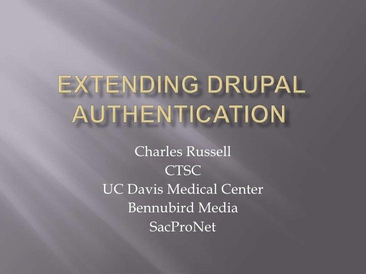 Extending drupal authentication