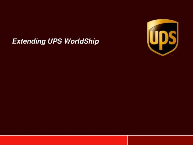Extending UPS WorldShip with OzLINK