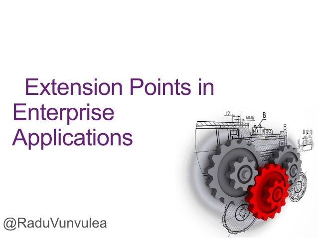Extension points in Enterprise Application