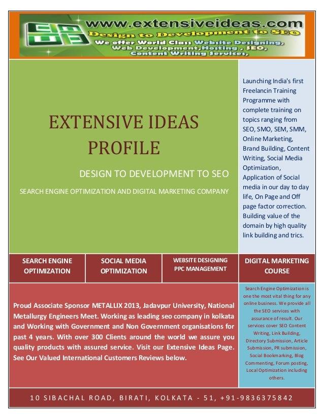 Extensive ideas profile