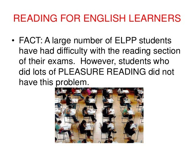 English Learners Reading Reading For English Learners