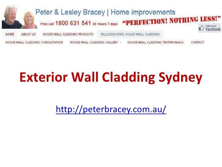 Exterior Wall Cladding Sydney     http://peterbracey.com.au/