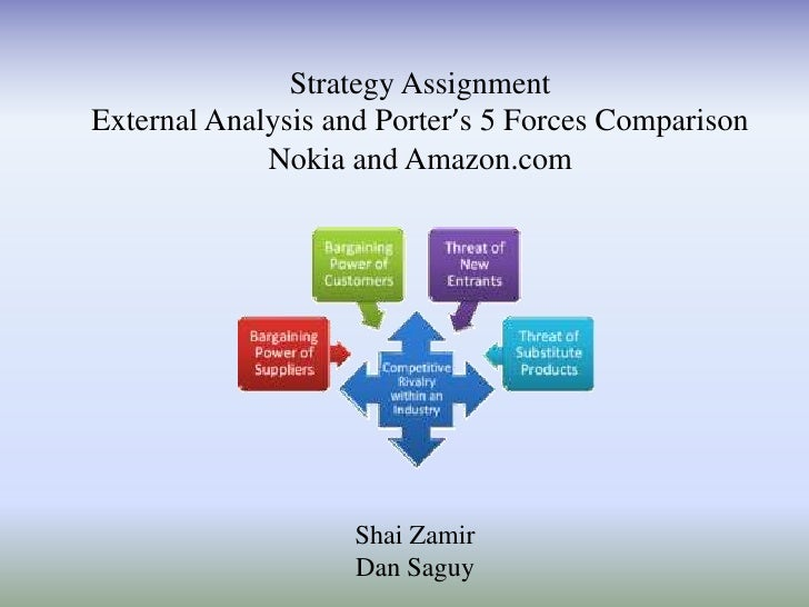 Strategy AssignmentExternal Analysis and Porter's 5 Forces Comparison             Nokia and Amazon.com                    ...
