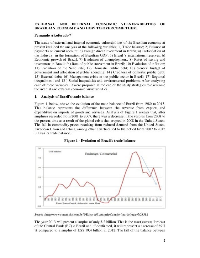 External and internal  economic vulnerabilities of brazilian economy and how to overcome them