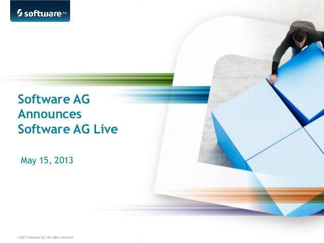 ©2013 Software AG. All rights reserved.Software AGAnnouncesSoftware AG LiveMay 15, 2013