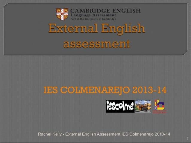 External english assessment