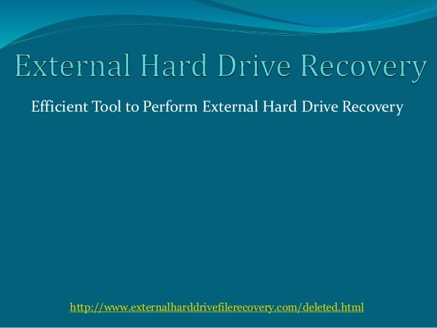 how to recover my external hard drive