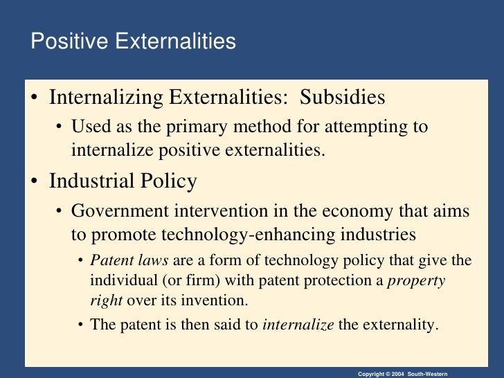 solving the positive externality problem economics essay Solving the negative externality problem  the problem of social cost, the journal of law and economics,  negative externalities: positive externalities:.