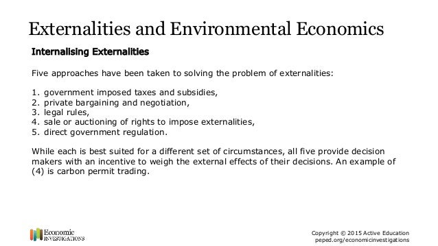 Lesson Plan Externalities And Public Goods Ppt Summary Economic