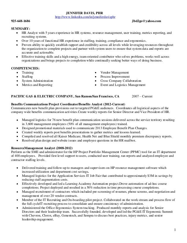 external resume 2013