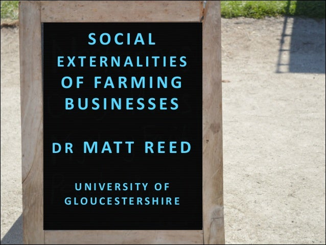 Social Externalities of Farming Businesses