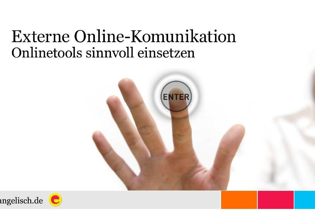 Externe Online-Kommunikation - Onlinetools sinnvoll einsetzen