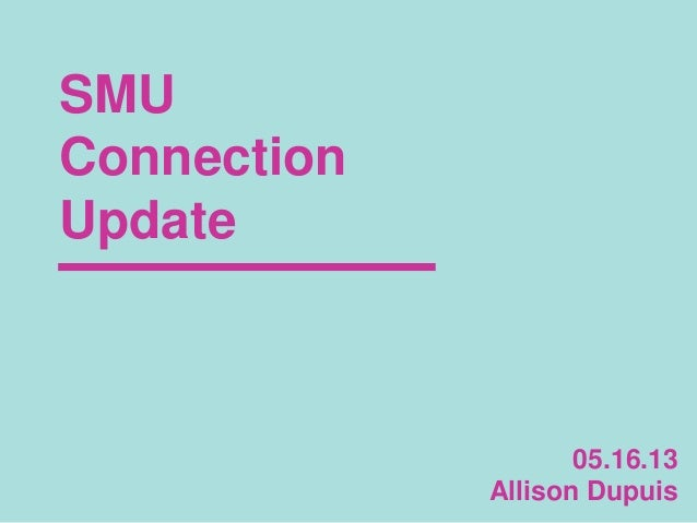 SMU Connection: One Day Externship Results