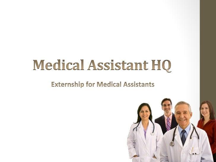 medical assistant externship essay