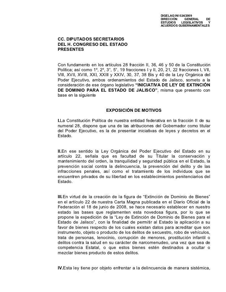 Extinción de dominio en Jalisco