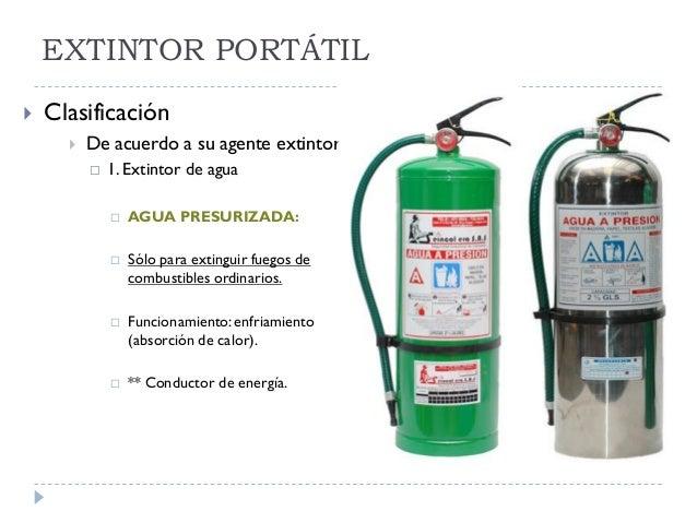 Extintores port tiles julissa cabrera Clasificacion de equipo de cocina
