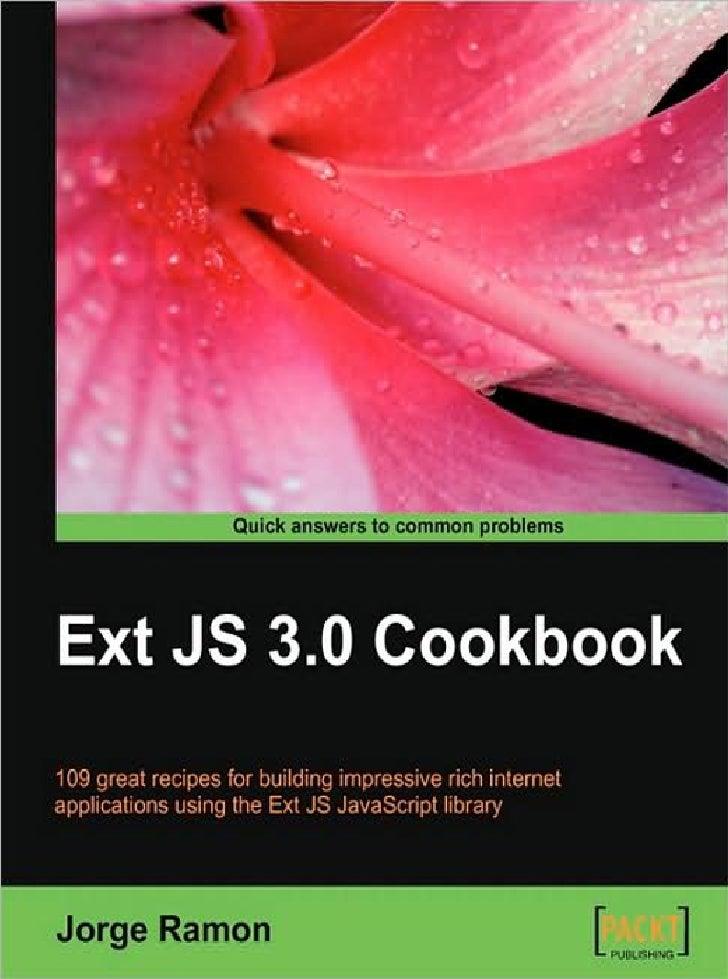 Extjs Cookbook