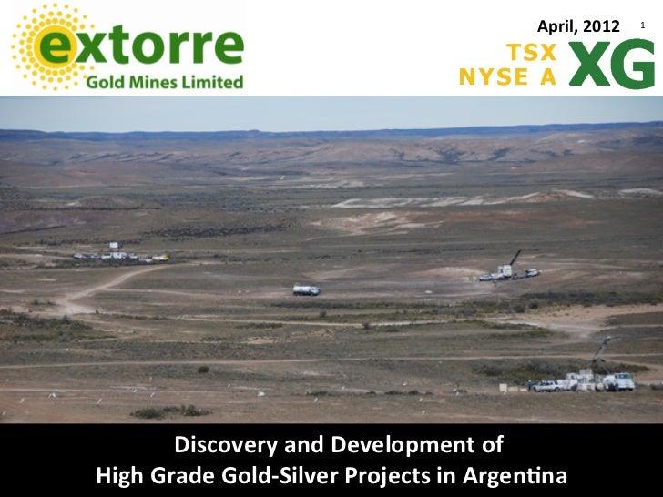Extorre Powerpoint April 2012