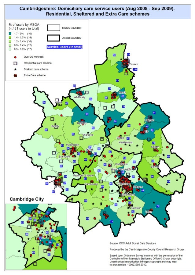 Extra care service and customer mapping, Cambridgeshire 2010