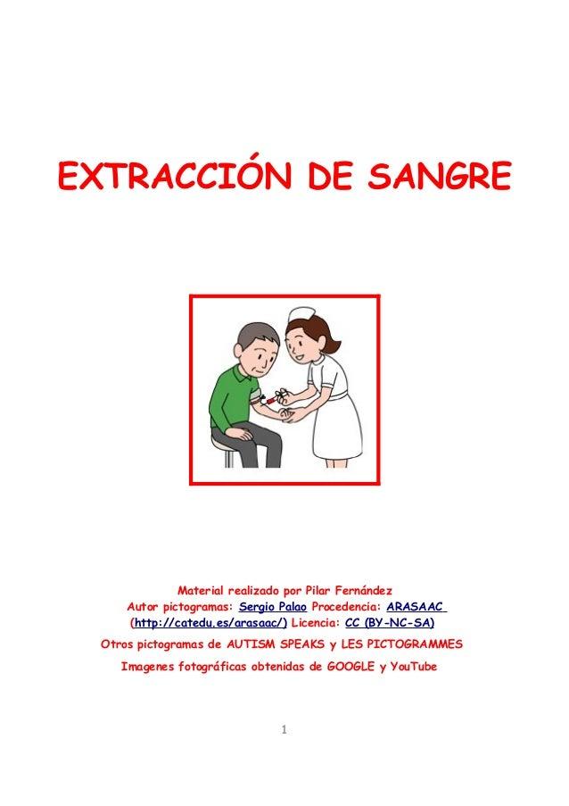 EXTRACCIÓN DE SANGRE             Material realizado por Pilar Fernández    Autor pictogramas: Sergio Palao Procedencia: AR...