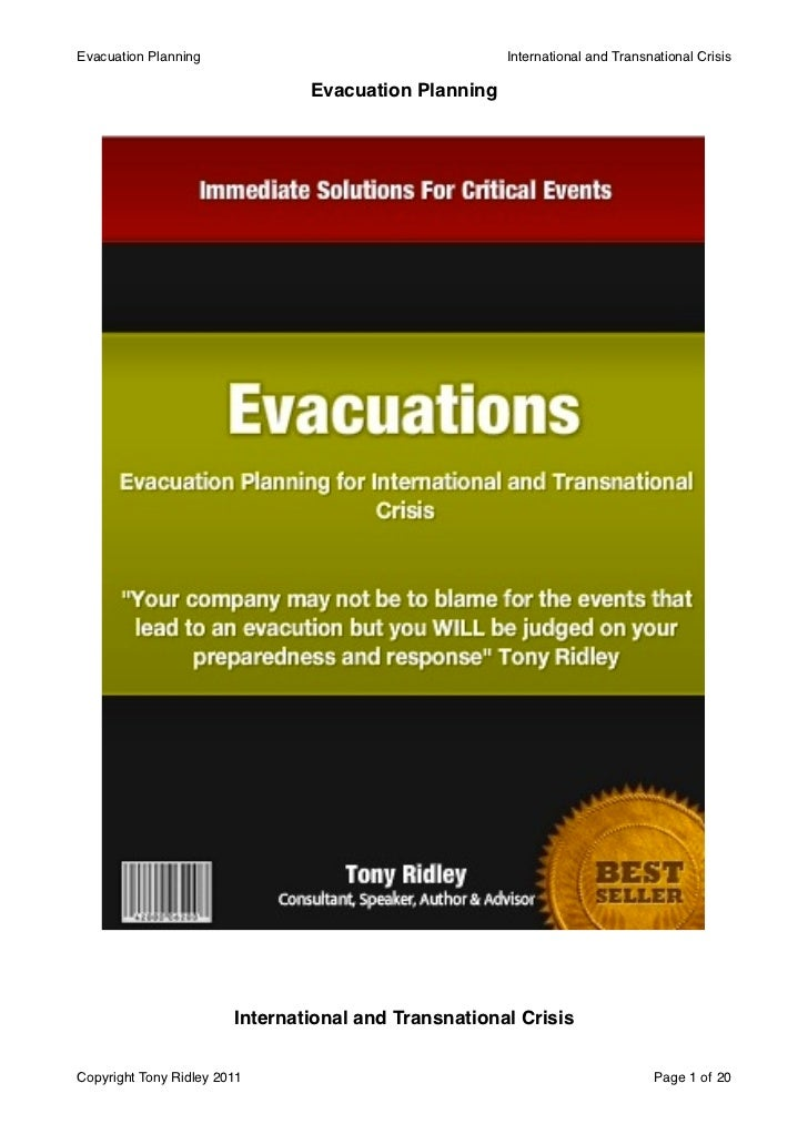 Evacuation Planning!                                   International and Transnational Crisis                             ...