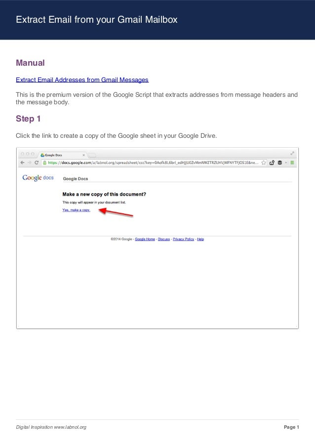 Email Extractor for Gmail