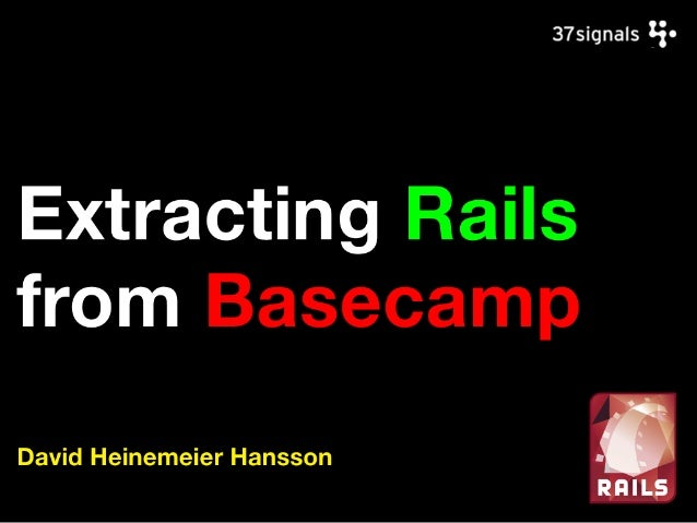 Extracting Rails from Basecamp