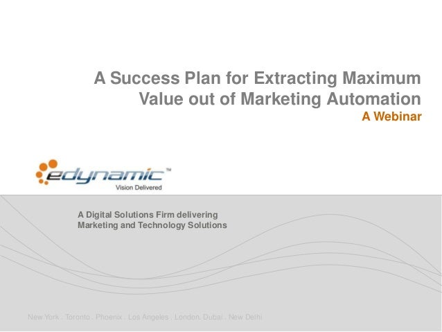 Extracting Maximum Value out of Marketing Automation