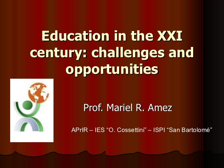 Extracts education challenges & opp