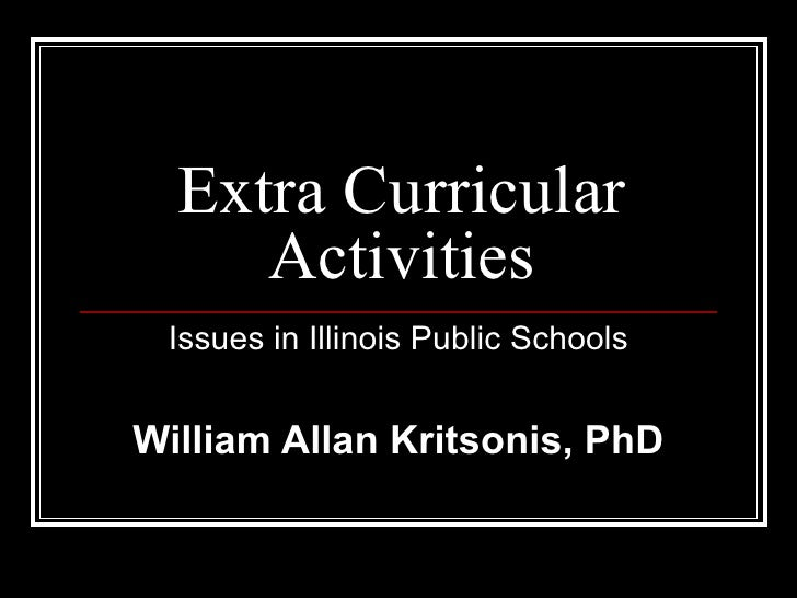 Extra Curricular Activities - Dr. W.A. Kritsonis