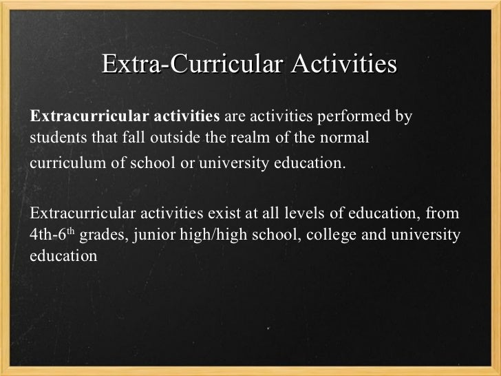 how participating in extracurricular activities keeps Participating in extracurricular activities helps you in other ways it's important to keep a balance between schoolwork, extracurricular activities.